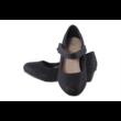 Fekete csillogós, kopogós alkalmi cipő
