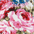 Farmerkék, vintage rózsás, bebújós Primigi vászoncipő