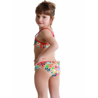 7d2eea1a60 Losan ciklámen-narancs, virágos bikini (92)