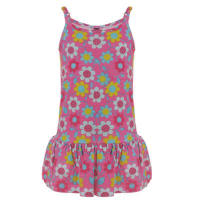 Losan ciklámen margarétás nyári pántos ruha (98) 948876c977