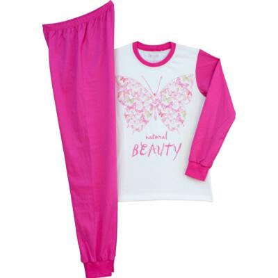 Fehér-ciklámen pillangós Pampress lányka pizsama 8f930d131f