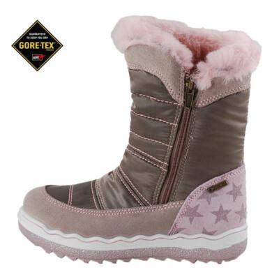 5163b481a4 Mogyoró-rózsaszín,csillagos, szőrmés, Gore-Tex, vízálló, bundás,