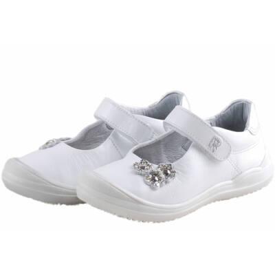 d3537c8b2c Fehér, ezüst virágos, Richter lányka balerina