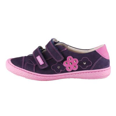 Szamos sötétlila-rózsaszín virágos átmeneti cipő 00efdb3c63