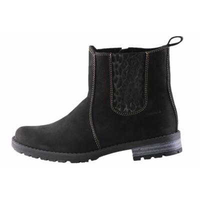 Szamos fekete cipzáras bokacsizma - Levendula gyerekcipő 8575faf1a7