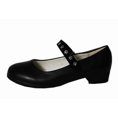 Fekete alkalmi balerina cipő - Levendula gyerekcipő 3097097f1f
