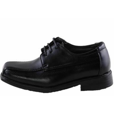 Fiú, fekete, fűzős, alkalmi cipő