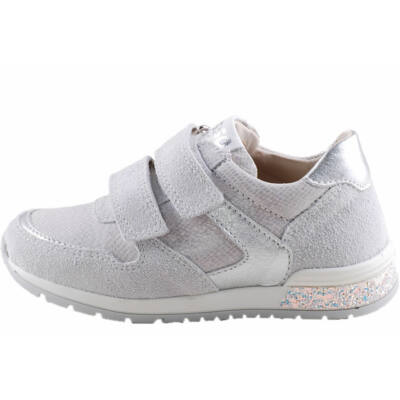 Szürke-ezüst, bőr, Asso prémium kislány cipő