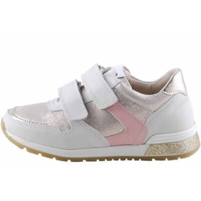 Fehér-ezüst rózsaszín, arany, Asso Kids prémium cipő