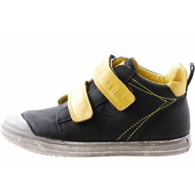 Fekete-sárga, magasszárú, D.D. Step cipő