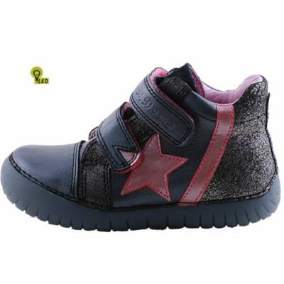 Grafitszürke, csillagos, vízzáró réteggel kezelt, világítós, D.D.Step cipő