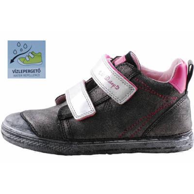 Grafitszürke-pink, csillagos, vízzáró réteggel kezelt D.D.Step cipő