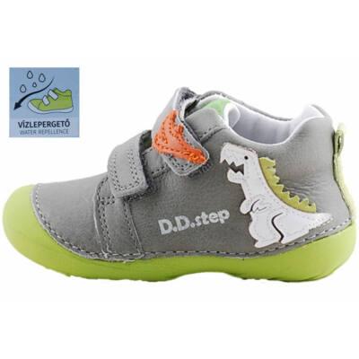 Szürke-neon, vízlepergetős, dínós, dd step cipő