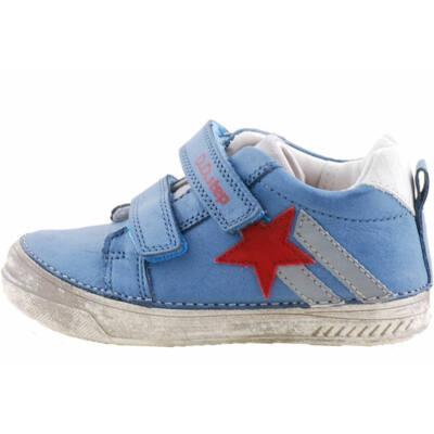 Kék, piros csillagos, dd step cipő