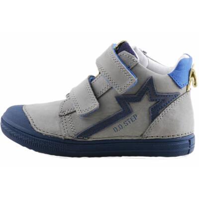 Szürke-sötétkék, vízlepergetős, dd step cipő