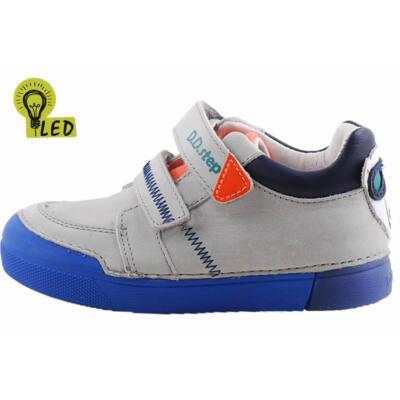 Szürke-kék, jegesmedvés, világító talpú, dd step cipő