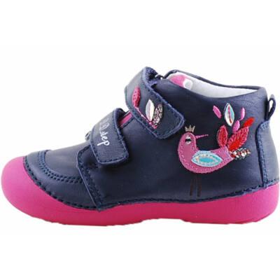 Sötétkék-pink, pávás, vízlepergetős, dd step cipő