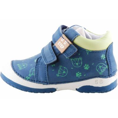 Sötétkék-zöld macis-tappancsos, dd step cipő