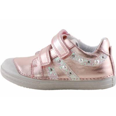 Metálrózsaszín, gyöngyös, dd step cipő