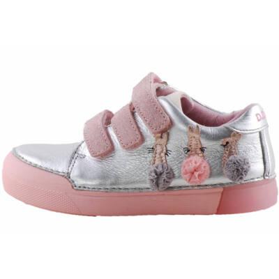 Ezüst-rózsaszín, nyuszis, dd step cipő