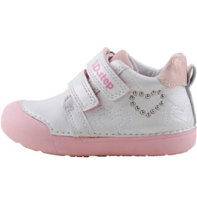 Gyöngyház, szívecskés, extra puha talpú dd step cipő