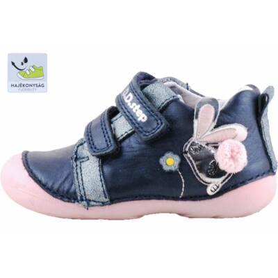Sötétkék-rózsaszín, ezüst nyuszis, dd step cipő