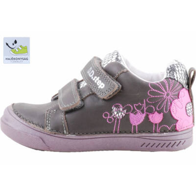 Szürke-ezüst, pink virágos, dd step cipő