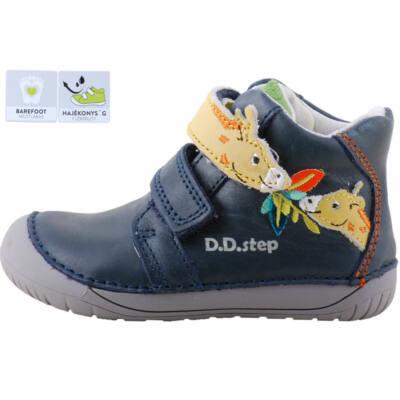 Kék, zsiráfos, barefoot puha talpú, dd step cipő