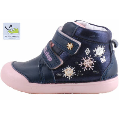 Kék-rózsaszín, flitteres, extra hajlékony talpú, dd step cipő