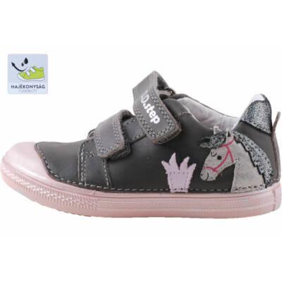 Szürke-rózsaszín, lovacskás, dd step cipő