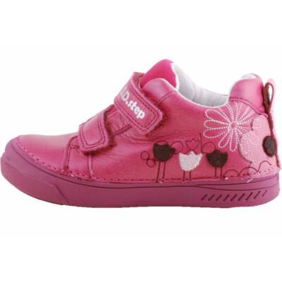 Sötétrózsaszín, tulipános, dd step, kislány cipő
