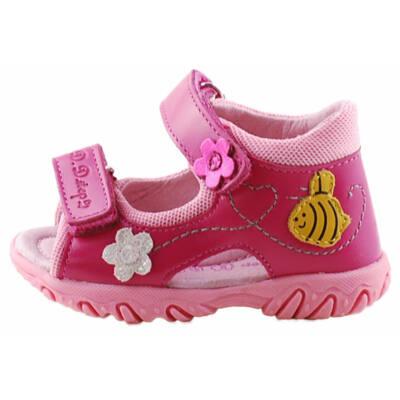 Pink, méhecskés, kislány, dd step szandál