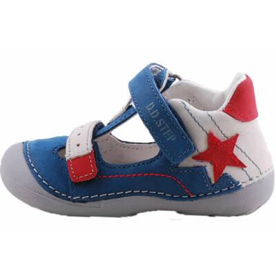 Kék, piros csillagos, hajlékony talpú, dd step szandálcipő