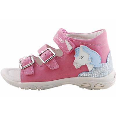 Rózsaszín, lovacskás, dd step szandál