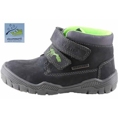 Sötétszürke, zöld dínós, AQUA-tex, vízálló, D.D.Step cipő