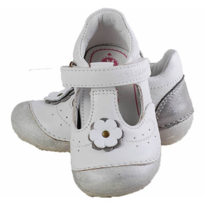 Fehér-ezüst, virágos, D.D.Step belerina cipő