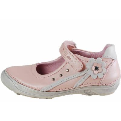 Rózsaszín, ezüst virágos, D.D.Step balerina cipő