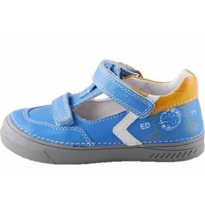 Középkék-fehér, feliratos, D.D.Step, fiú tavaszi cipő