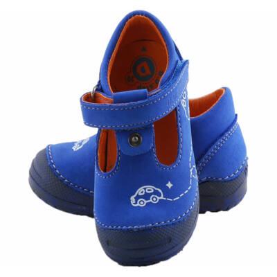 Kék, autós, hajlékony talpú, D.D.Step nyitott cipő