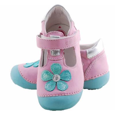 Rózsaszín, csillogó zöld virágos, D.D.Step balerina