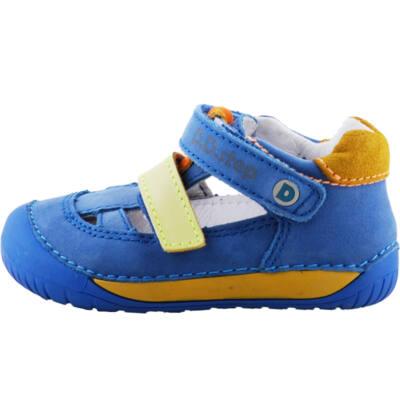 Kék-mustár, extra puha talpú, Barefoot, dd step szandálcipő