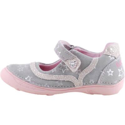 Szürke-rózsaszín, ezüst csillagos, dd step pántos balerina