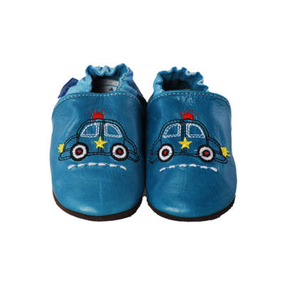 D.D.Step kék hímzett autós puhatalpú cipő