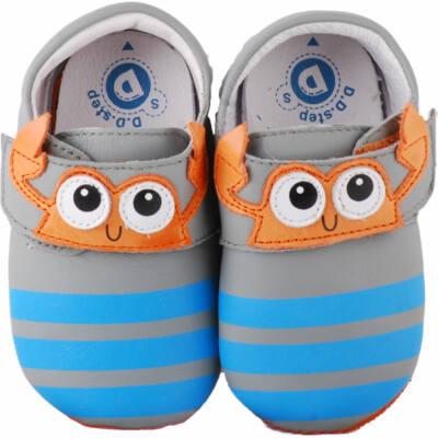 Szürke-kék, rákocskás, dd step, puhatalpú cipő