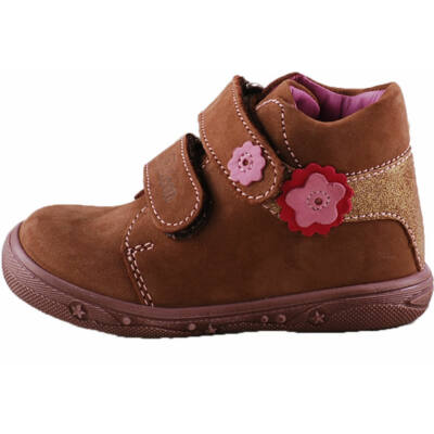 Barna, pink virágos, Falcon cipő