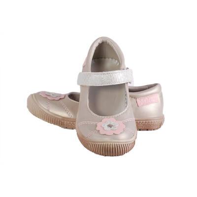 Falcon arany-rózsaszín virágos pántos balerina cipő - Levendula ... c008c850dc