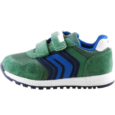 Zöld-kék, lélegző talpú, Geox kisfiú edzőcipő