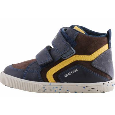 Barna-kék-mustár, lélegző talpú, Geox cipő