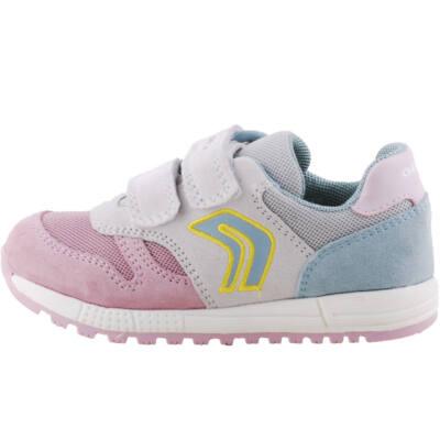 Krém-rózsaszín, kék, lélegző talpú, Geox cipő