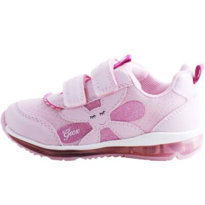 Rózsaszín, világító talpú, kisvirágos, lélegző talpú, Geox cipő